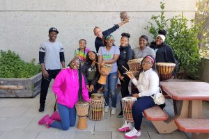 Heartbeets Summer Interns provide the hospital with healing drumming